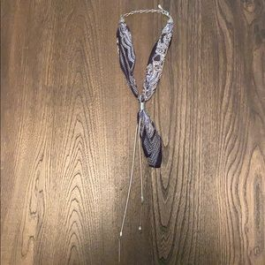 Free People Bandanna Bolo Necklace
